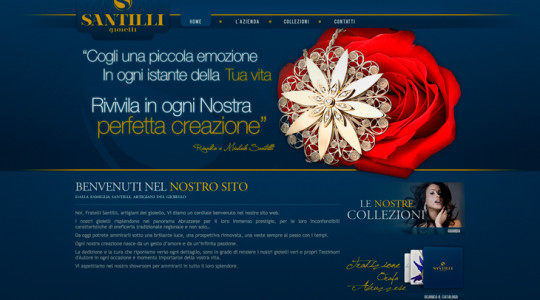SANTILLI GIOIELLI – Web Design