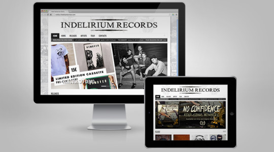 INDELIRIUM RECORDS – Web Design